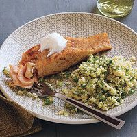 Lazy Salmon Supper (will make with lactose free butter substitute)