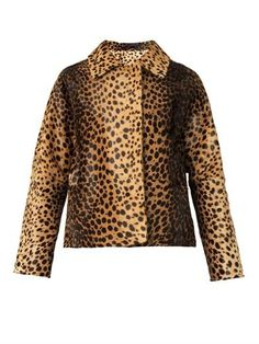 Tan and dark brown jacket with leopard-print calf hair from Inès & Maréchal @hicirqle