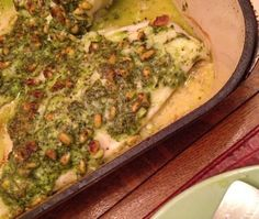 Baked White Fish With Pine Nut, Parmesan, And Basil Pesto Crust ...