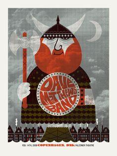 Dave Matthews Band Copenhagen Concert Poster by Methane Studios - Methane Studios - DMB - Gallery