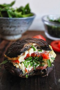 Portobello Mushroom Cashew Cheeseburger | Skinny Mom | Where Moms Get The Skinny On Healthy Living