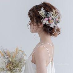 "Woven flowers ""Little"" * Lilac (hair ornaments and headdress)- 纏い花《リトル》*ライラック(髪飾り・ヘッドドレス) Flower (Little) * Lilac (Hair Ornament / Head Dress) Head Dress (Wedding) FlowerFactoryLazo Mail Order Wedding Headdress, Wedding Updo, Wedding Hairstyles, Lilac Hair, Little White Dresses, Hair Ornaments, Updos, Hair Makeup, Bride"