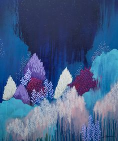 Still The Night, original abstract painting by clair bremner, modern art…