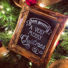 A Very Merry Christmas Chalkboard Sign