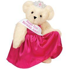 "15"" Birthday Girl Bear with Sash from Vermont Teddy Bear. $85.99 #Birthday #Gift #TeddyBear"
