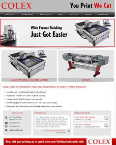 Colex specializes in equipment for the finishing sector in the Wide Format Cutting machine. Colex is the high-class supplier in North America for Vinyl Cutters and the manufacturers of the new COLEX Flatbed Cutter, powered by I-CUT.