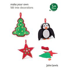 Buy John Lewis Make Your Own Tree Decorations Online at johnlewis.com £6.50