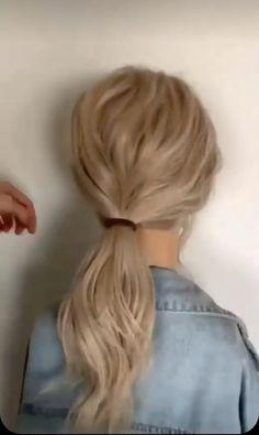 Easy Hairstyles For Long Hair, Diy Hairstyles, Pretty Hairstyles, Buns For Curly Hair, Easy Hair Buns, Style Long Hair, Medium Hair Updo Easy, Easy Bun Hairstyles For Long Hair, Easy Low Bun