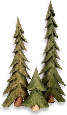Carved Tree set