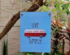 Placa Live Simply Kombi 15x20