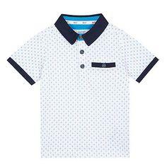 d5cb8108e794 Baker by Ted Baker Boys  white diamond print polo shirt