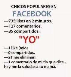 Chicos populares en Facebook. #humor #risa #graciosas #chistosas #divertidas