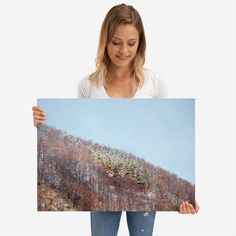 Frozen forest detailed, premium quality, magnet mounted prints on metal designed by talented artists. Frozen, Poster Prints, Polaroid Film, Metal, Beautiful, Metals