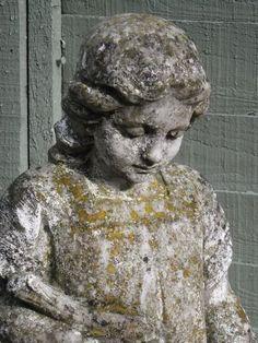 French inspired garden Girl statue