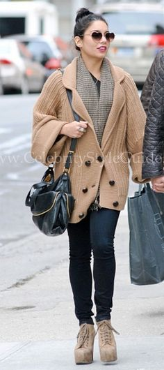 Vanessa Hudgens stepped out in the () Jeffrey Campbell Lita Ankle Booties in New York City March 25, 2012