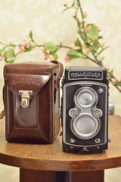 1937 Rolleiflex Automat, Freshly Serviced, with leather case & lens cap. #Rollei