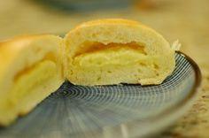 Japanese Cream Pan / Japanese Custard Filled Sweet Bread Buns Recipe (the350degreeoven)
