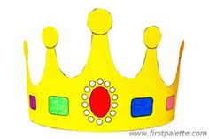 Print and Color Crown Templates  Several different crown styles for you to print out, color and wear!    I used this for my homeschooling lesson Jj-Jewels!