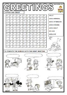 GREETINGS 16-9-2018.pdf Grade 1 English, Kids English, English Lessons, Learn English, English Activities For Kids, English Worksheets For Kids, Grammar Activities, Preschool Lessons, Lessons For Kids