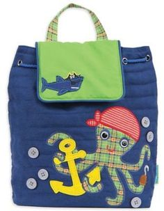 Stephen Joseph® Octopus Quilted Backpack in Blue
