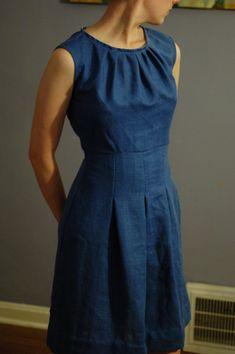 Sleeveless dress simplicity pattern2724