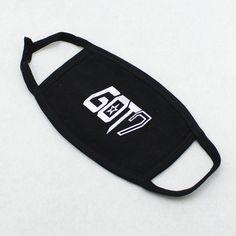 GOT7 Black & Silver Logo Mouth Mask