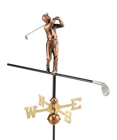 Take a look at this Polished Copper Golfer Garden Weather Vane by Good Directions