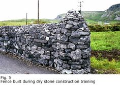 Learning to build Irish dry stone wall