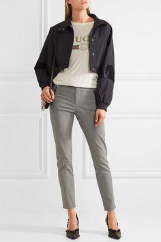 Étoile Isabel Marant - Rhett Houndstooth Cotton-blend Skinny Pants - Gray - FR40