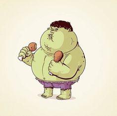 alex solis.. . Fat Hulk #hulk #marvel #superheroes