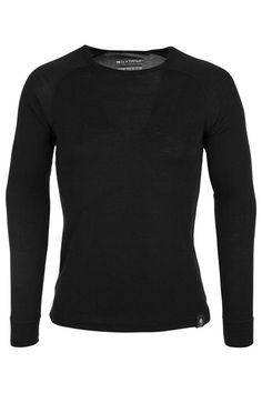 Mountain Warehouse Merino Mens Long Sleeve Thermal Baselayer Top - Lightweight Tee Warm Antibacterial & Quick Drying T-shirt - Great For Cold Weather Black Large Sous Pull, Black Media, Sweater Weather, Winter Outfits, Winter Clothes, Cold Weather, T Shirt, Mens Fashion, Sweatshirts