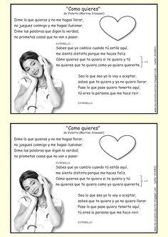 Me encanta escribir en español: Canción: Cómo quieres... de Violetta (Martina Stoessel)