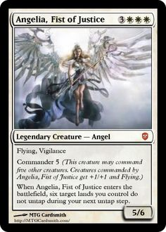 sanat claus magic card   MTG Cardsmith - Angelia, Fist of Justice by Fallen