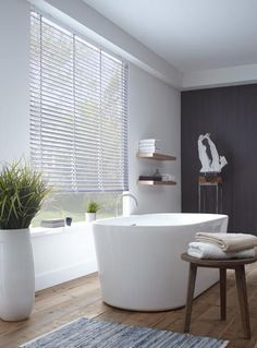 White may be the safe and traditional decorating non-colour go-to, but for a slick room makeover, black is the new white, and a chic alternative for a modern interior update. Bathroom Spa, Laundry In Bathroom, Modern Bathroom, Master Bathroom, Bathroom Plants, Bad Inspiration, Bathroom Inspiration, Interior Inspiration, Dream Bathrooms