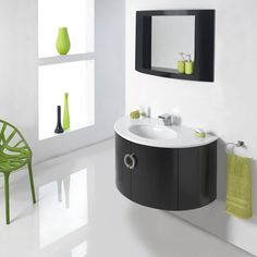Mission Black Wall Hung Unit  Basin