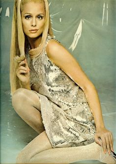 I just love this look- 1960's. mod dresses and the hair.  Lauren Hutton