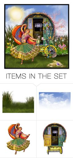"""A Gypsy Spring"" by majezy ❤ liked on Polyvore featuring art"