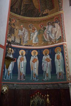 Byzantine Icons, Byzantine Art, Church Interior, Religious Icons, Orthodox Icons, Mythology, Medieval, Saints, Scene
