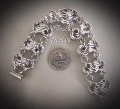 36  Chain Maille Armband  Chainmaille Bracelet von TroisPerles