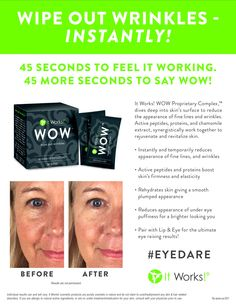 NEW It Works product on it's way!! It only takes 45 seconds to work. Our top producers got to try it out and it looks awesome! WOW!! www.mowrapyourself.com