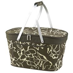 @Overstock.com.com - Picnic at Ascot Bold Collapsible Insulated Basket - This beautiful collapsible picnic basket is perfect for your outdoors activities. The basket has a flattering floral design on it that features insulation and food safe lining, and a zippered closure. This basket is stylish and convenient.  http://www.overstock.com/Home-Garden/Picnic-at-Ascot-Bold-Collapsible-Insulated-Basket/5817457/product.html?CID=214117 $42.99