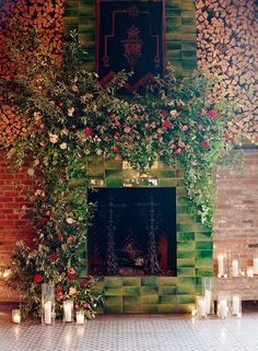 Wedding backdrop at The Bowery Hotel - Poppies & Posies NYC