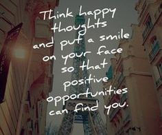 Monday Inspiration: Think Happy Thoughts