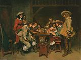 Jean Louis Ernest Meissonier Innocents and Card Sharpers (A Game of Piquet). Date A Cenry painting depicting a - bar scene. Renoir, Jean Antoine Watteau, Jean Leon, Art Occidental, Thirty Years' War, Ernest, Art Ancien, The Three Musketeers, Academic Art