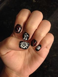 Supernatural nail art... Boredom at its finest.