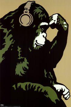 考える猿 ポスター