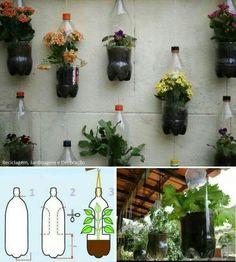 Mira estas macetas, originales y además ahorran espacio en tu jardín.
