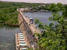 Bagnell Dam - Lake of the Ozarks , Missouri  (My dad loves to watch the 'dancing fish' below the dam-it's fun!)