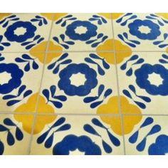cementtegels Castelo 10x10 blauw