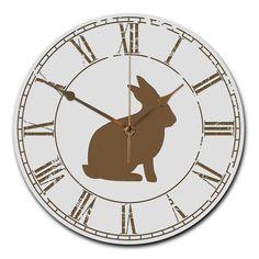 Wanduhr rund Hase aus MDF  Weiß - Das Original von Mr. & Mrs. Panda.  Eine wunderschöne runde Wanduhr aus hochwertigem MDF Holz mit goldenen Zeigern und absolut lautlosem Uhrwerk    Über unser Motiv Hase  Hasen sind bei Kindern sehr beliebte Haustiere und auch auf Wiesen kann man den Hasen sehr oft beobachten. Früher eher wegen seinem Fell und als Mahlzeit gehalten, erfreuen sich Hasen in der Zwischenzeit großer Beliebtheit und sind nicht nur während der Osterzeit ein gerne gesehenes…